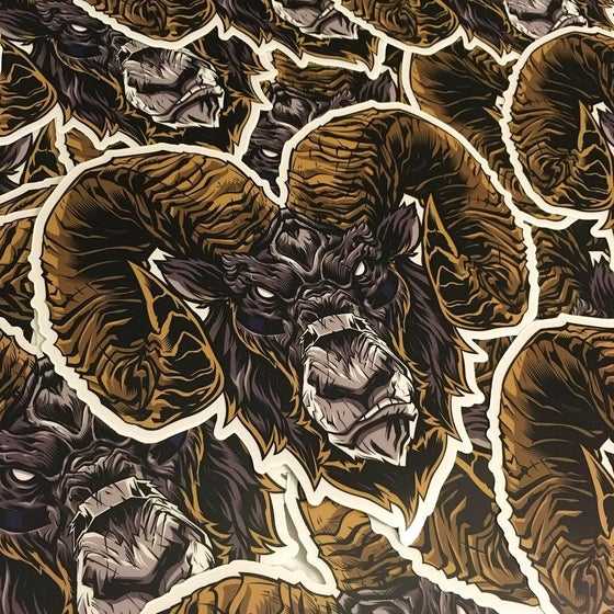 Image of CLEAR RAM Stickers 2 Pack