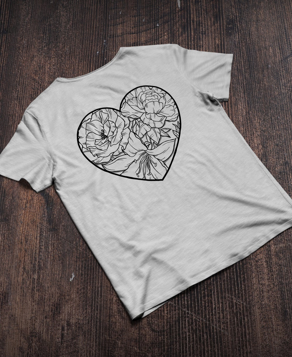 Image of Floral Heart T | Winter Collection