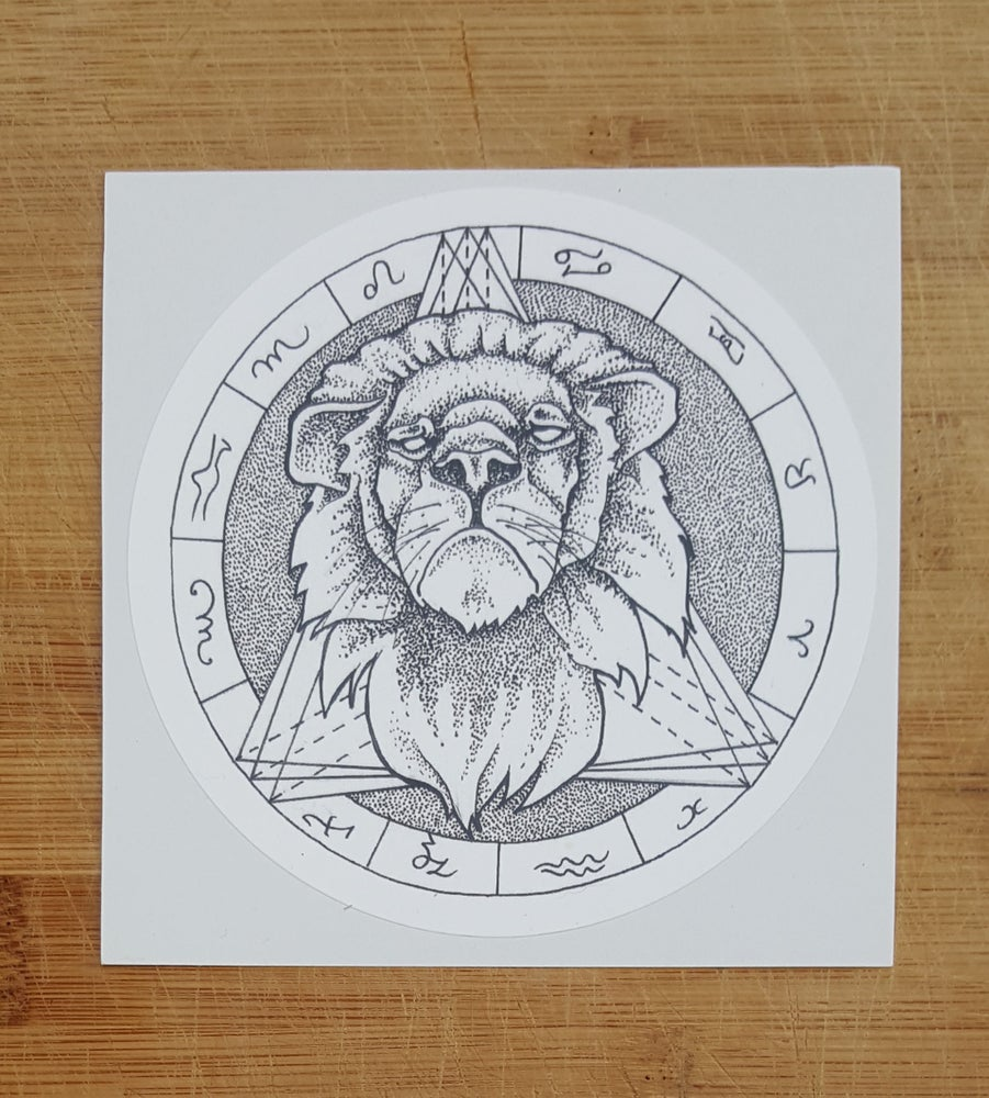 Image of Male Lion Sticker