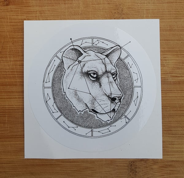 Image of Female Lion Sticker
