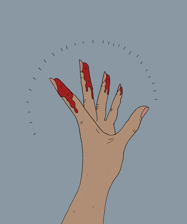 Image of The Hand - A4 Print By Polly Nor