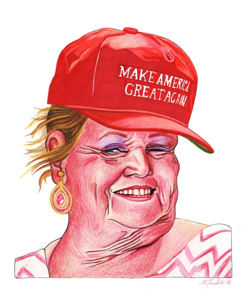 Image of Drunk MAGA Grannie