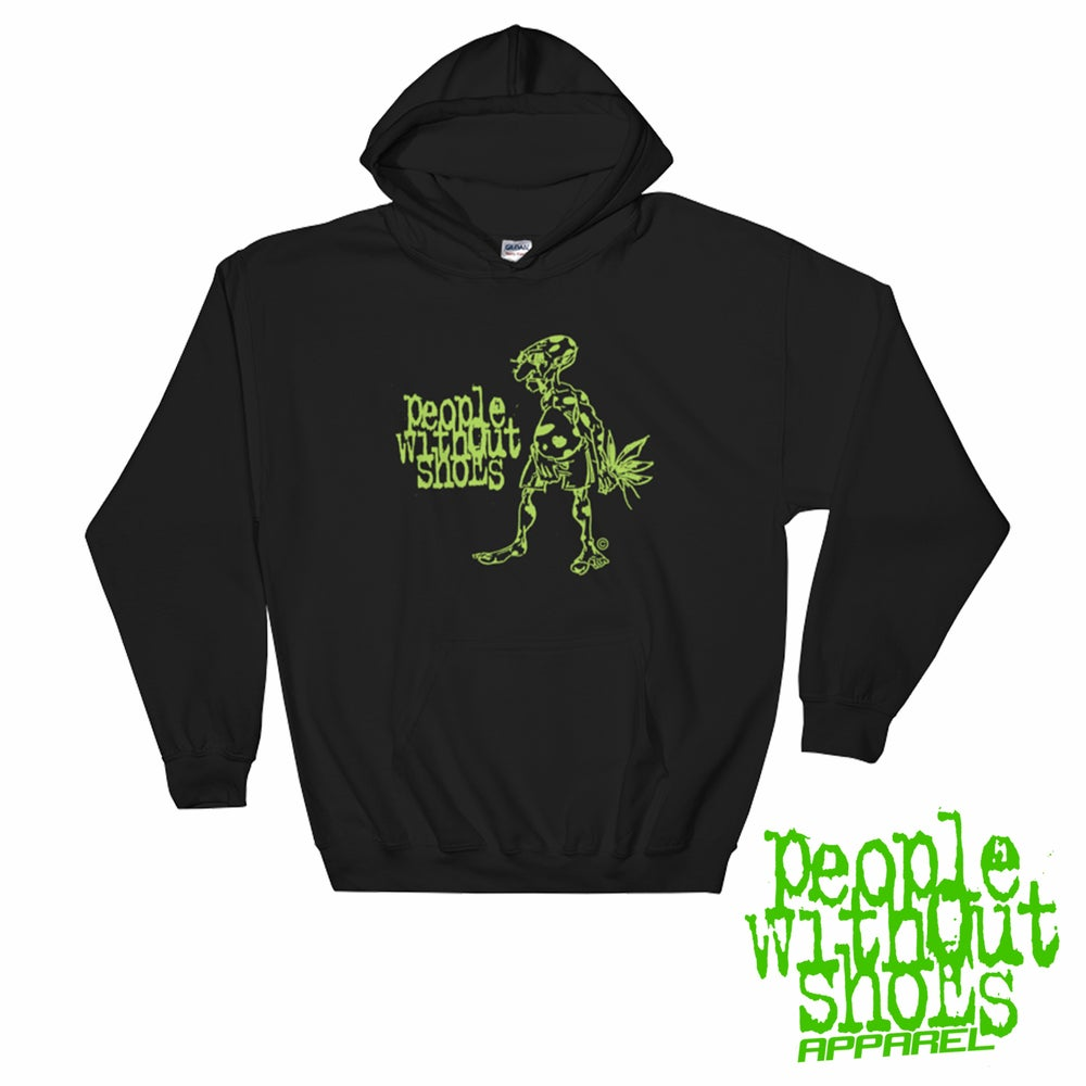 Image of People Without Shoes (Green Logo Hoodie)