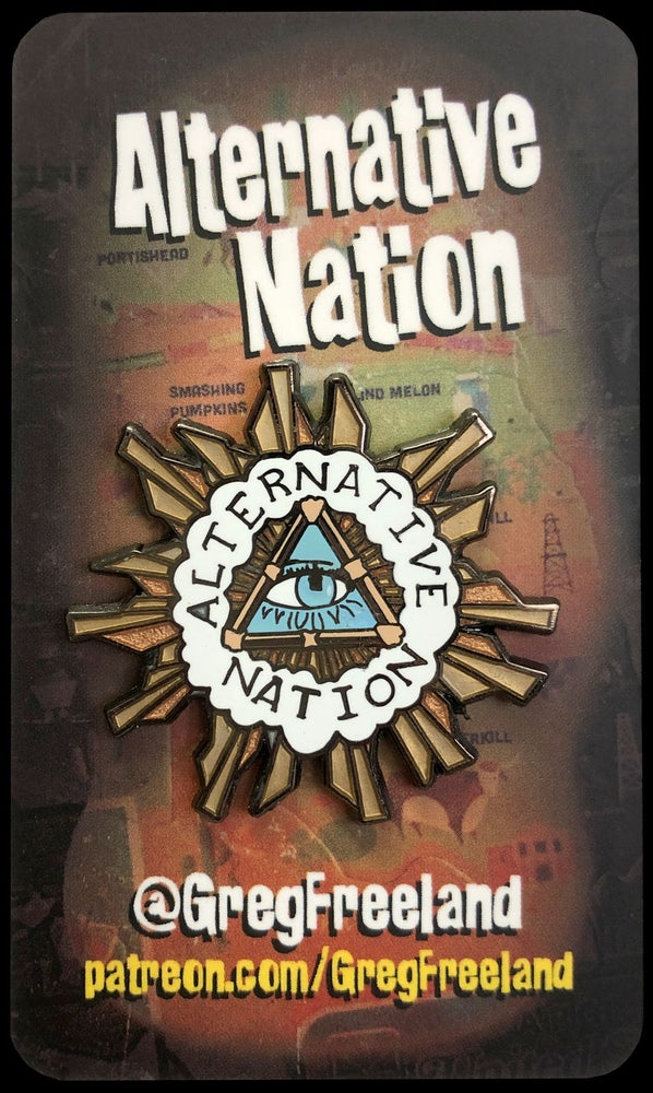 "Image of ""Alternative Nation"" MTV 90s Enamel Pin"