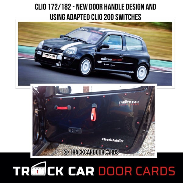 Image of Renault Clio 172/182 MK2 - Fronts - New Handle Design - Track Car Door Cards