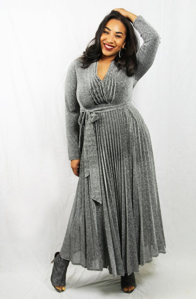 Image of Silver Maxi Dress