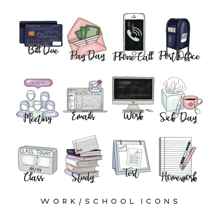 Image of Work & School Planner Icons