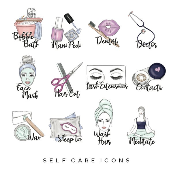 Image of Self Care Planner Icons