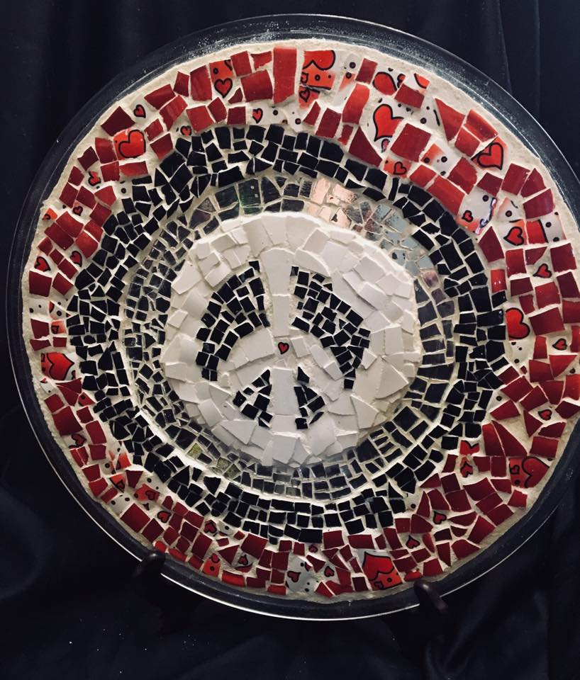 Image of Peace love and happiness tray