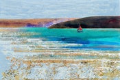 Image of Cornish Shrimper Returning, Camel Estuary, Cornwall