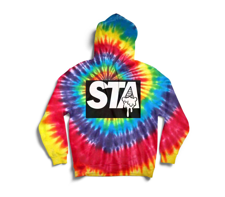 Image of STA Tye Dye Block Hoody