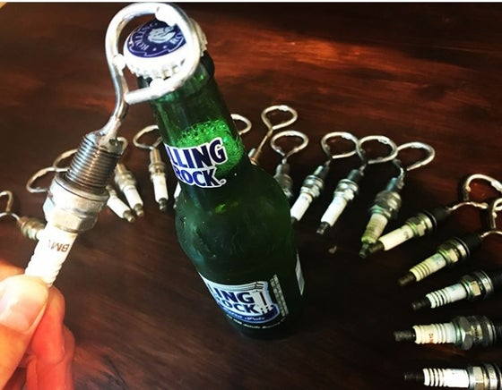 Image of Spark Plug Bottle Opener & Wine Stopper