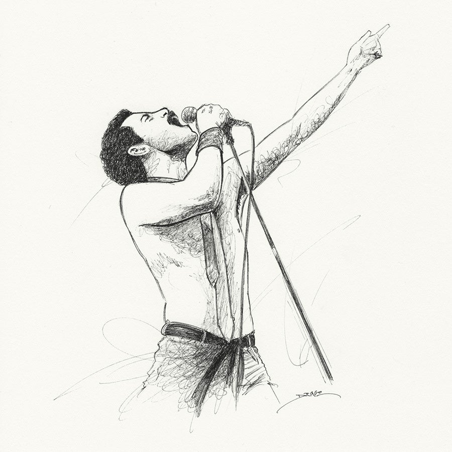 Image of Bohemian Rhapsody Doodle 2 (ORIGINAL DRAWING)