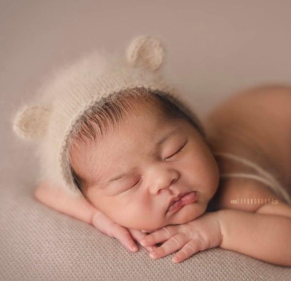 Image of {Angora} Bear Bonnet