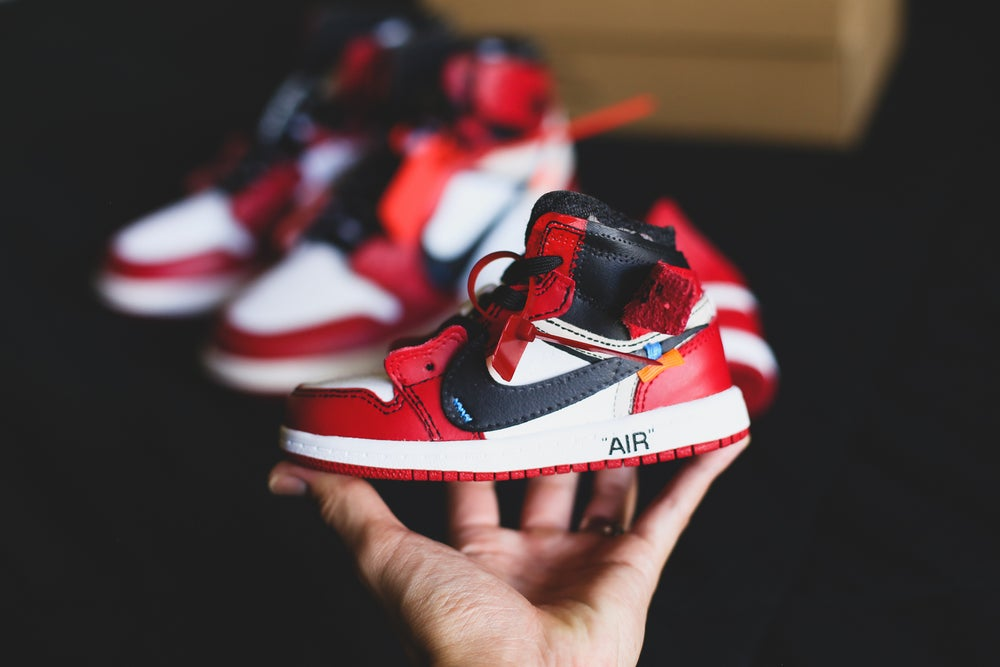 "Image of Air jordan 1 Toddler/preschool ""chicago off-white"" inspired"