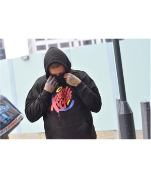 Image of Heavy Goods 'Hamburger Gang' logo Hoodie
