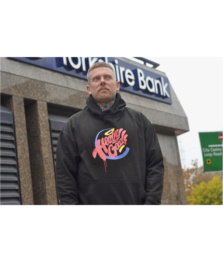 Image of Heavy Goods 'Hamburger Gang' logo Hoodie