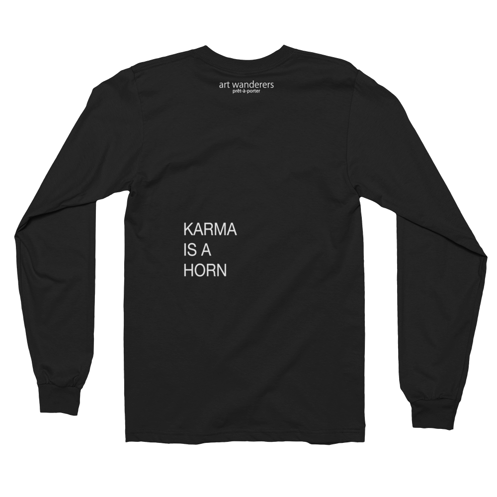 Image of Art Wanderers® X American Apparel® - Karma is a Horn - Long Sleeve T-Shirt - Black