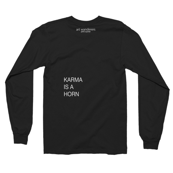 Image of Art Wanderers® X American Apparel® - Untitled Mono Artwork C35 - Long Sleeve T-Shirt - Black