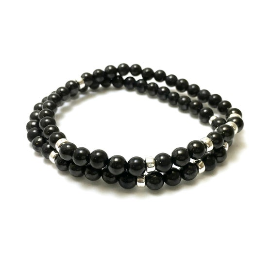 Image of NEW! Mens Shungite 6mm Infinity Bracelets