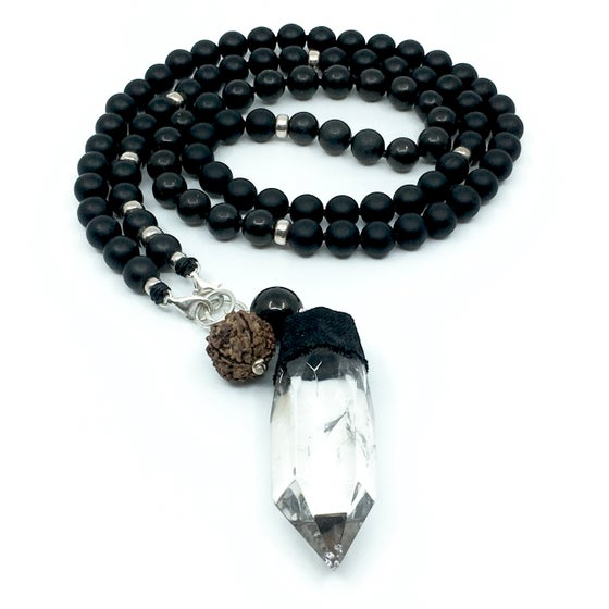 Image of NEW! Phantom Quartz Double Infinity Mala