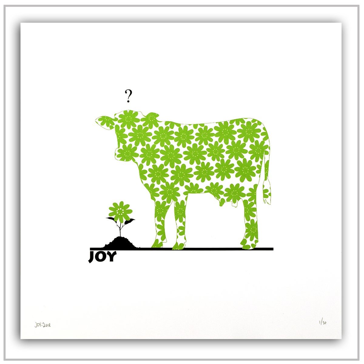 Image of FLOWER COW  -   EPLEGRØNN