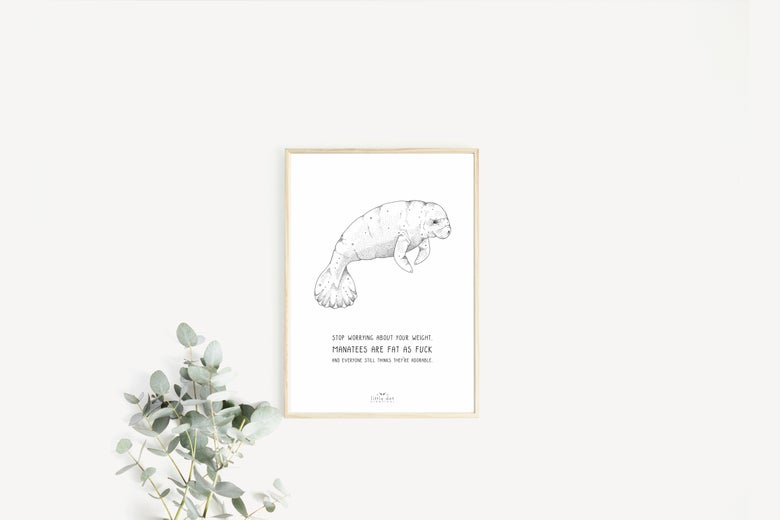 Image of Motivational Manatee