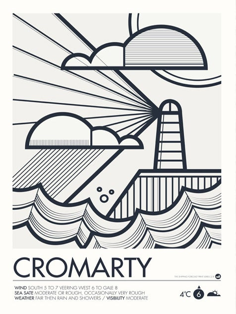 Image of Shipping Forecast Prints - Cromarty