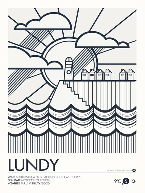 Image of Shipping Forecast Prints - Lundy