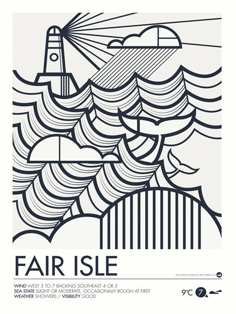 Image of Shipping Forecast Prints - Fair Isle