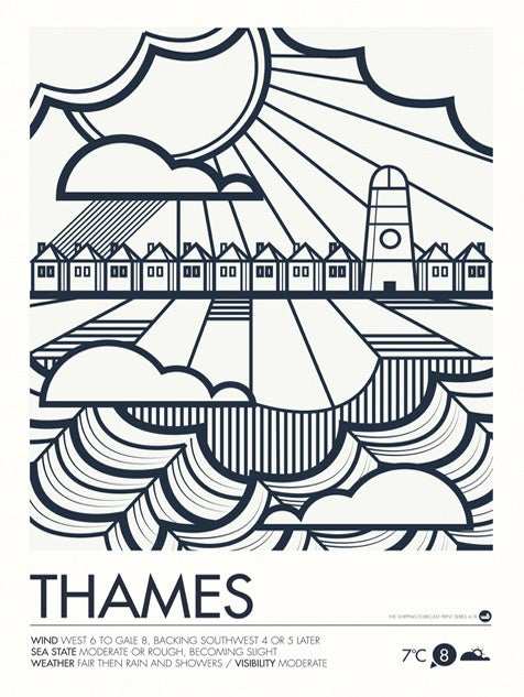 Image of Shipping Forecast Prints - Thames