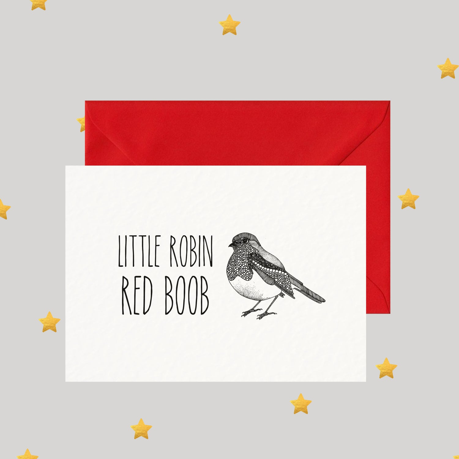 Image of Little Robin Red Boob - Christmas Card