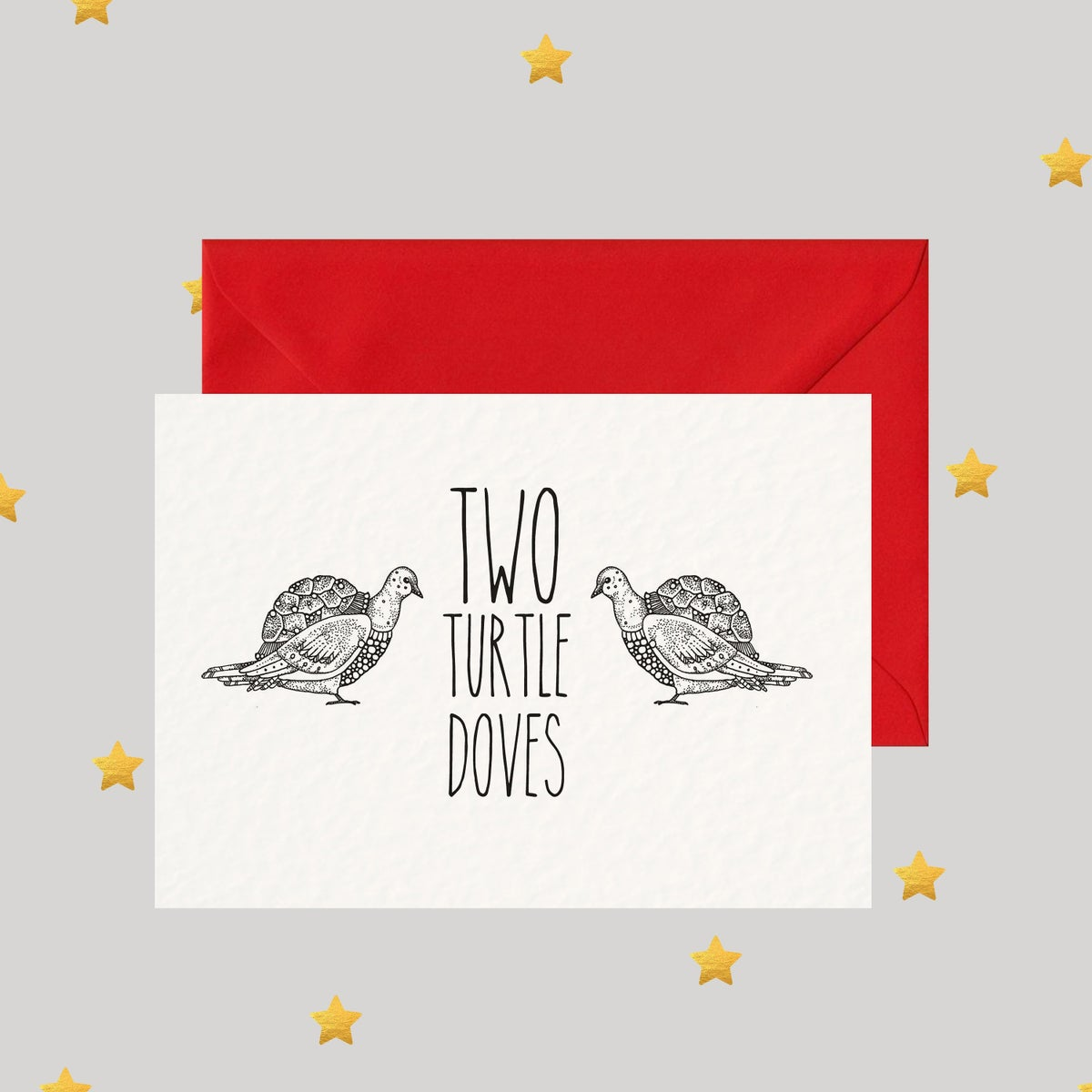 Image of Two Turtle Doves - Christmas Card