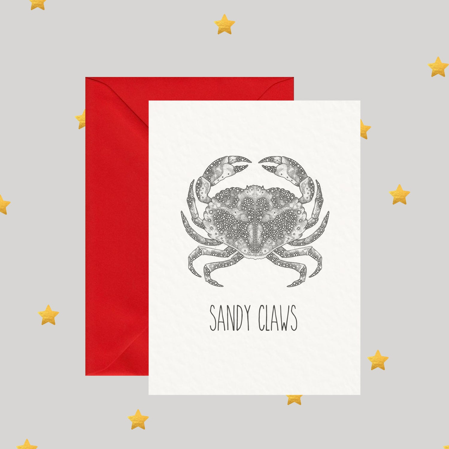 Image of Sandy Claws - Christmas Card
