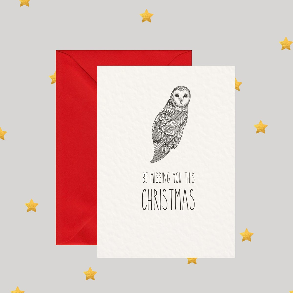 Image of Owl Be Missing You This Christmas - - Christmas Card
