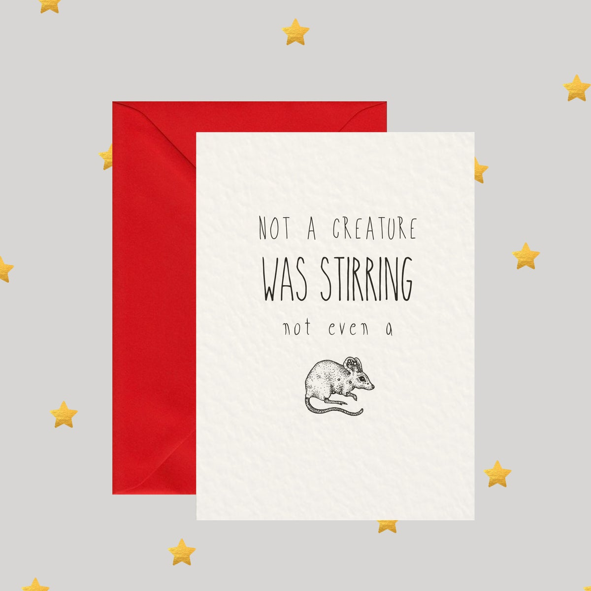Image of Not A Creature Was Stirring... - Christmas Card
