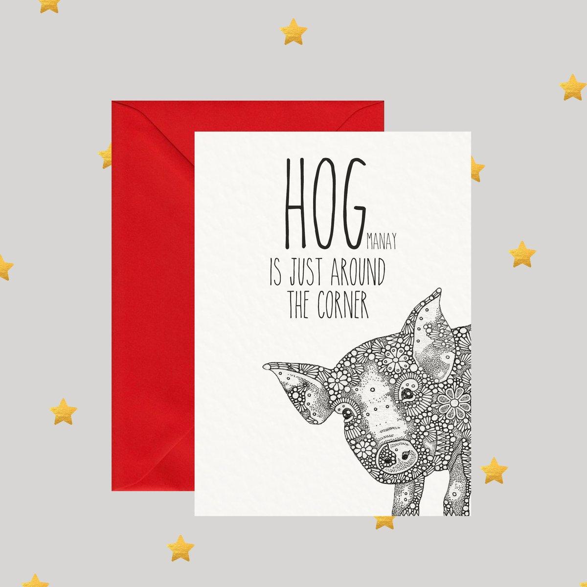 Image of HOGmanay is just around the corner - Christmas Card