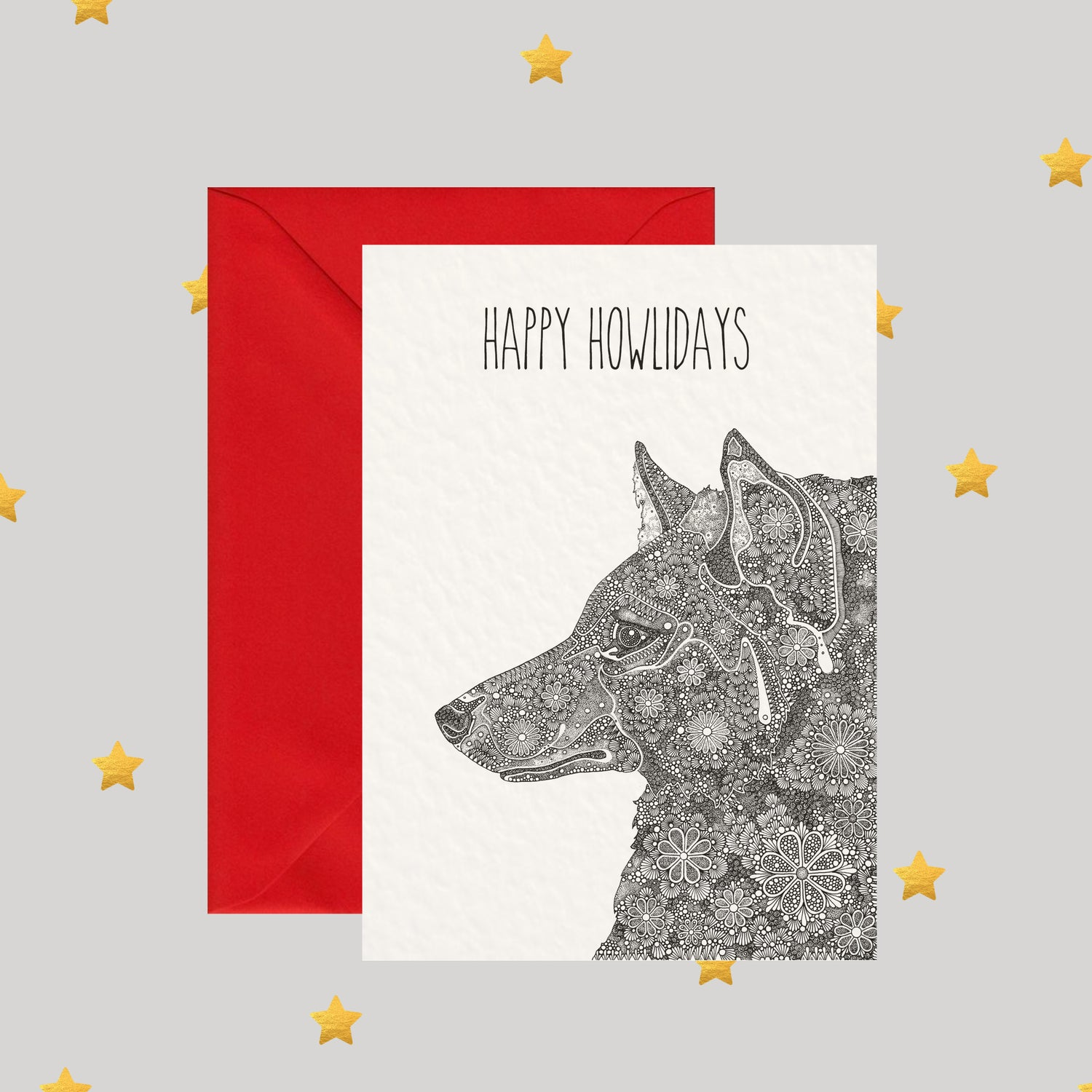 Image of Happy Howlidays - Christmas Card