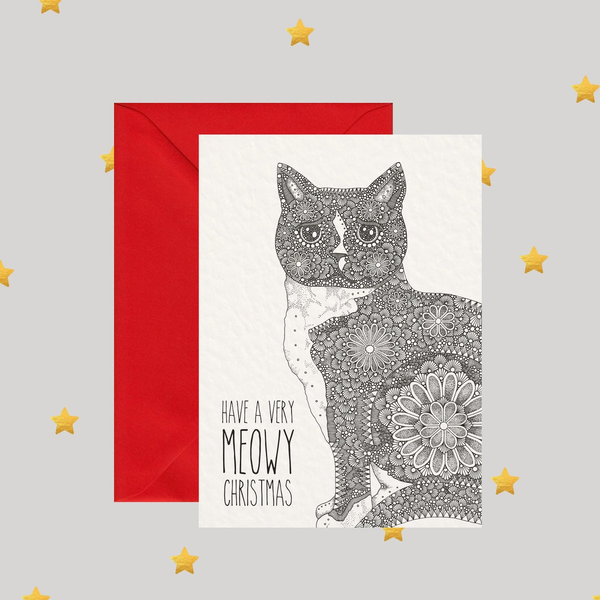 Image of Have A Very Meowy Christmas - Christmas Card