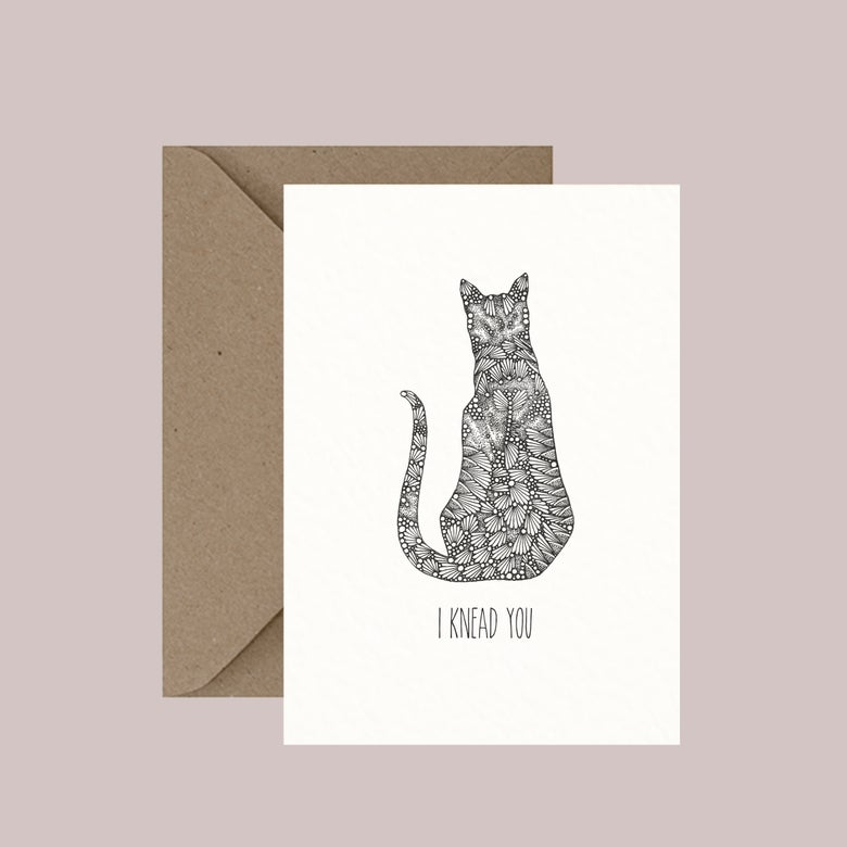 "Image of ""I knead you"" greeting card"