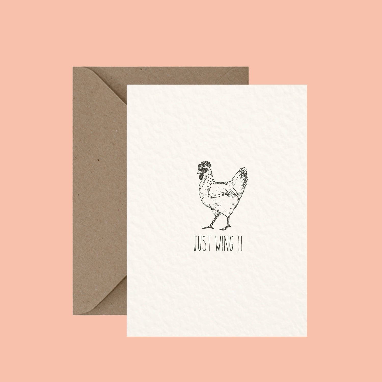 """Image of """"Just wing it"""" greeting card"""