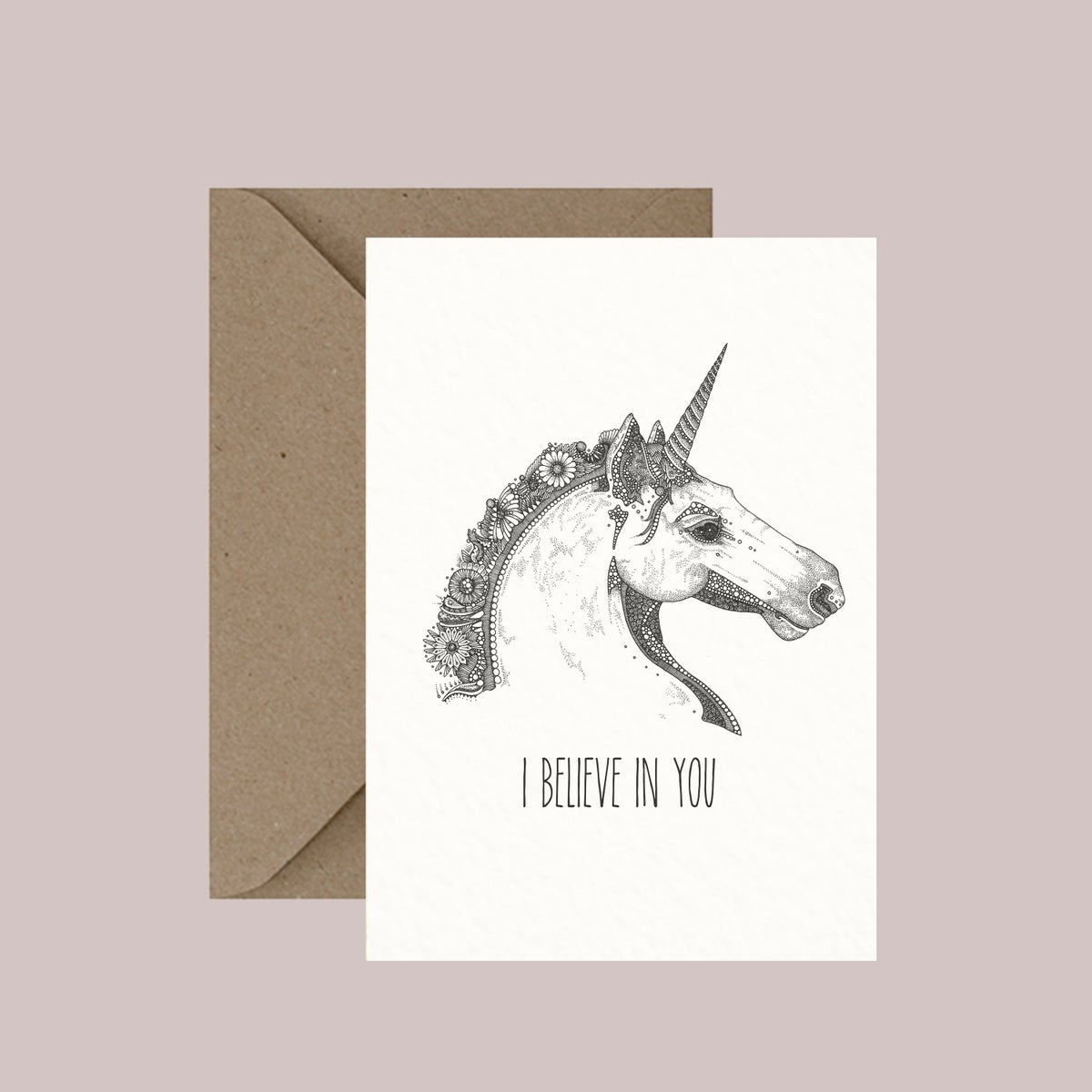 "Image of ""I believe in you"" greeting card"