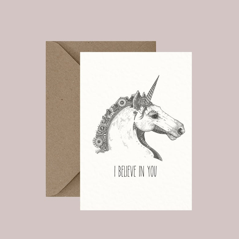"""Image of """"I believe in you"""" greeting card"""