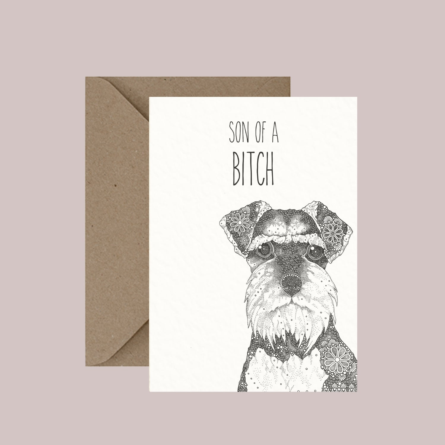 "Image of ""Son of a bitch"" greeting card"