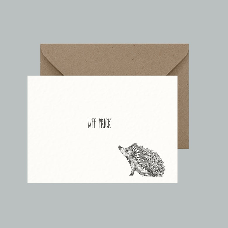 "Image of ""Wee prick"" greeting card"