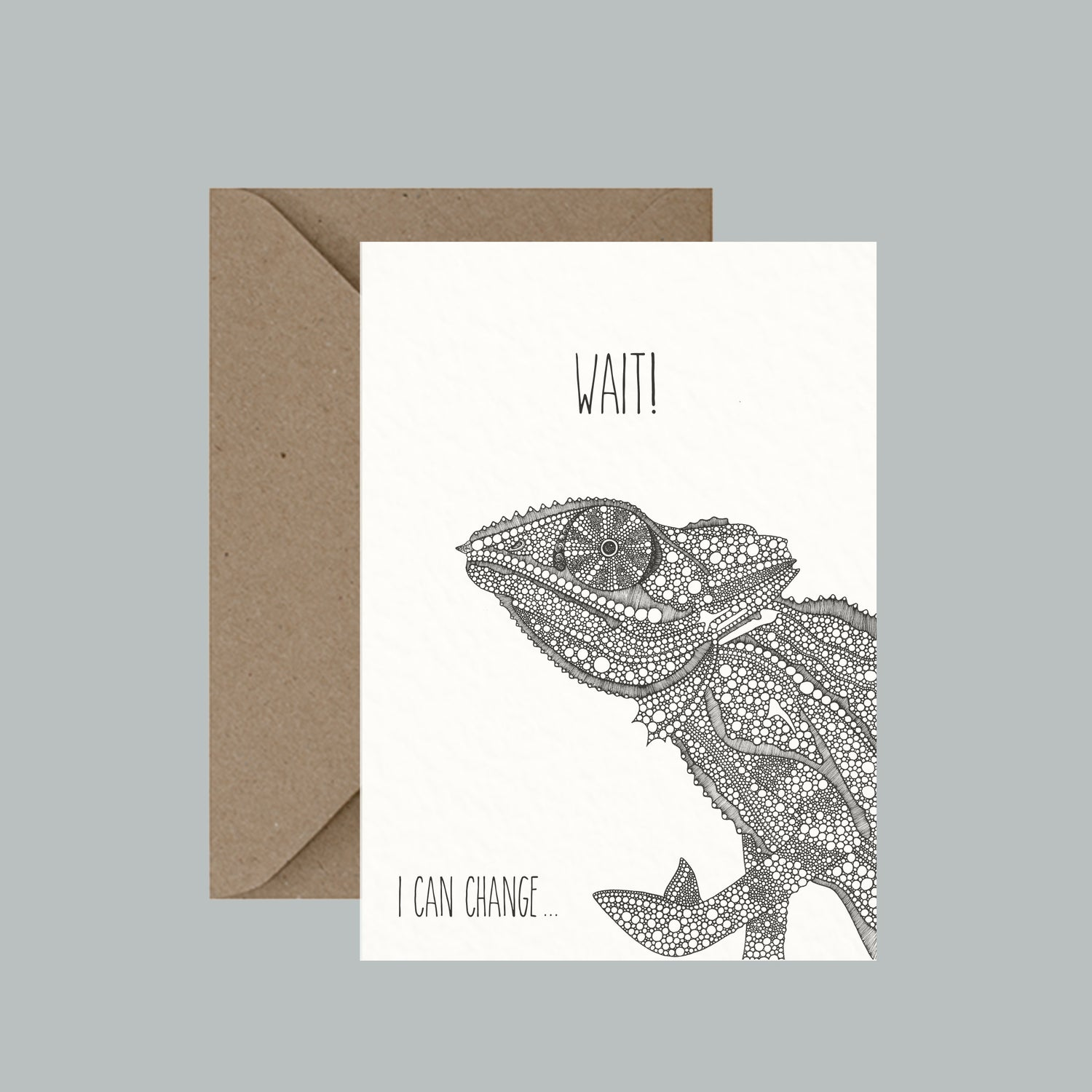 "Image of ""Wait! I can change..."" greeting card"