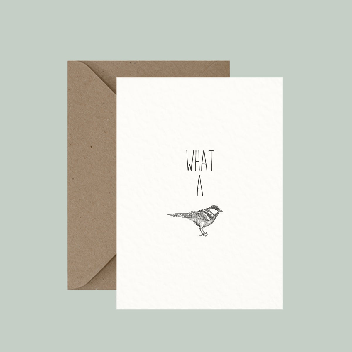 """Image of """"What a Tit"""" greeting card"""