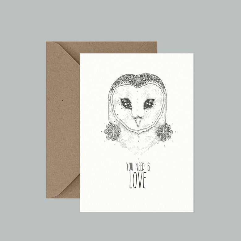 """Image of """"Owl You Need Is Love"""" greeting card"""