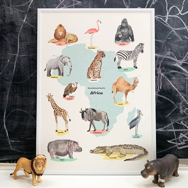 Image of Africa Animals Print