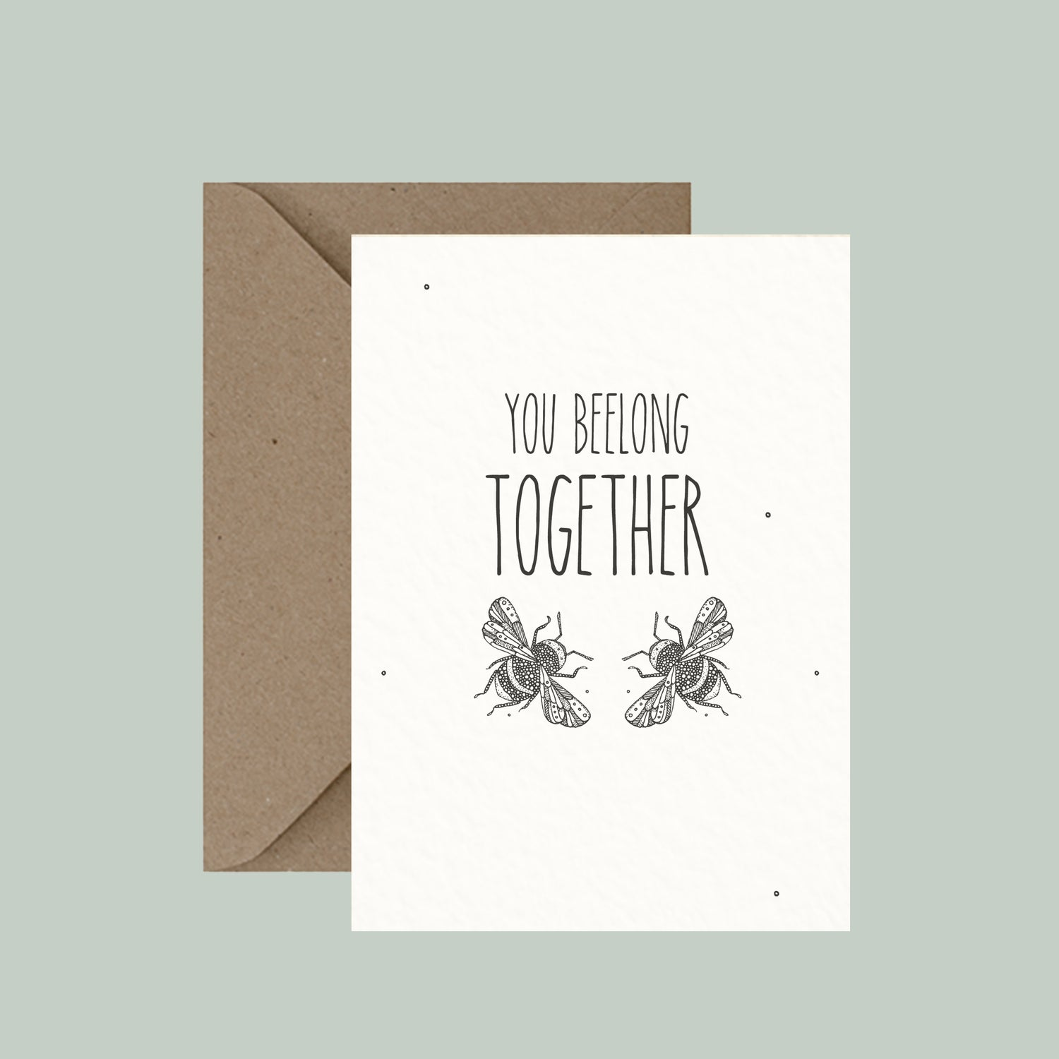"Image of ""You beelong together"" greeting card"